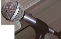 Das Foto zeigt ein Mikrofon.